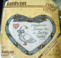 $9.59 & Ships Free!  Counted Cross Stitch Kit Happiness Grows in a Loving Family #ragwrap