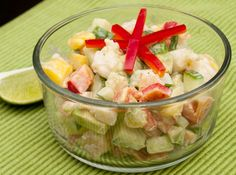 Tropical Chopped Salad | shrimp, avocado, mango, cucumber, red pepper