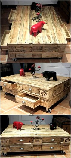 wood pallets table idea