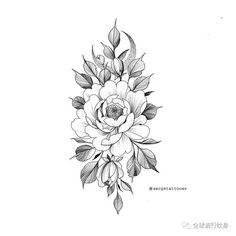 Pin by Lauren Segers on Tattoos Floral Tattoo Design, Flower Tattoo Designs, Flower Tattoos, Tattoo P, Tattoo Drawings, Skull Rose Tattoos, Black Tattoos, Geometric Henna Tattoo, Island Tattoo