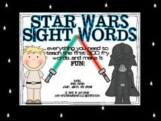 sight words can be boring. So why not jazz them up with Star Wars, the most talked about movie in most lower grades classrooms? Included in this packet you will find materials to teach the first 300 words on the Fry Sight Word List. Space Classroom, Classroom Board, Primary Classroom, Teaching Kids, Kids Learning, Sight Word Activities, Literacy Activities, Teacher Checklist, Star Wars Classroom