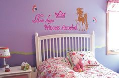 Children's room vinyl sticker let her sleep Vinyl Decals, Sticker, R65, Baby Room, Cribs, Toddler Bed, Have Fun, Sleep, Wall Art