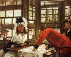 James Jacques Joseph Tissot (1836-1902)  Bad News  Oil on canvas  1872  Private collection