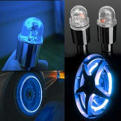 Brand New 1 Pair LED Bike Neon Car Wheel Tire Valve Caps Wheel Lights  - Price: $2.83