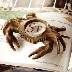 Crab Magnifying Glass....cute nautical decor accent.