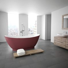 This stunning freestanding bath from Milano is sure to make a statement in any modern bathroom.
