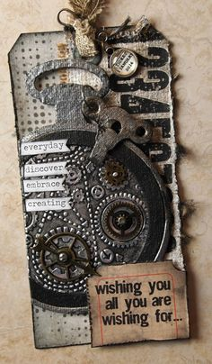 klistersøster: Tim Holtz 12 Tags of 2014 – january http://susanjanicula.blogspot.dk/2014/01/tim-holtz-12-tags-of-2014-january.html