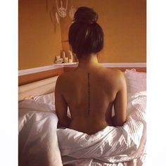 "Spine tattoo Quote: ""Dream without fear, Love without limits"" // Back tattoo for girls"