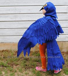 Coolest Blue Macaw Parrot Costume... This website is the Pinterest of costumes