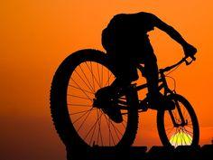 Downhill Mountain Bike Silhouette | Riding Bike
