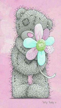 Tatty Teddy, Teddy Bear Images, Teddy Bear Pictures, Teddy Bear Drawing, Teddy Bear Quotes, Happy Birthday Greetings Friends, Blue Nose Friends, Baby Posters, Bear Wallpaper