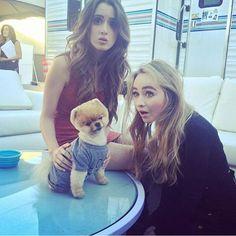 "Laura, Sabrina, and Jiff hanging put backstage at Citadel! <span class=""emoji emoji1f495""></span><span class=""emoji emoji1f495""></span> #AustinAndAlly #lauramarano #girlmeetsworld ..."