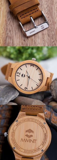 Classic MMNT Bamboo Watch - Gifts for Him - Watches - Men's Jewelry - Men's Accessories - Handmade #ad