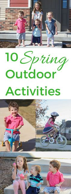 10 Spring Activities to Encourage Kids to Play All Day #Ad #PlayAllDay