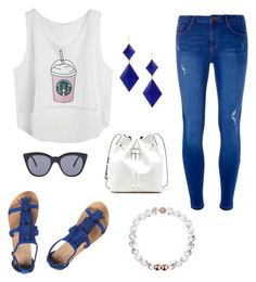 """Starbucks lover outfit☕️"" by paulinanicole on Polyvore featuring Dorothy Perkins, Sole Society, Le Specs and Marie Hélène de Taillac"