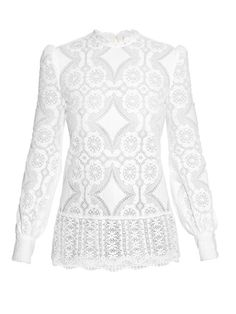 Hillier Bartley High-neck lace blouse