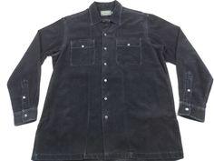 Ralph Lauren Polo Country Corduroy Button Up Shirt Navy Blue Mens Medium M #RalphLaurenPoloCountry #ButtonFront