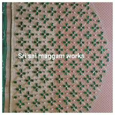 Kurtha Designs, Hand Designs, Fancy Blouse Designs, Bridal Blouse Designs, Beaded Embroidery, Embroidery Designs, Embroidery Stitches, Pattu Saree Blouse Designs, Maggam Work Designs