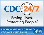 CDC 24/7 campaign website badge