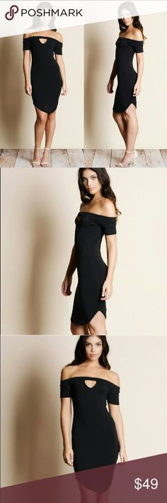 Off Shoulder Cut Out Dress Off shoulder cut out dress.  Modeling size small.  True to size. Dresses