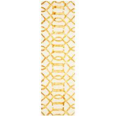 cool Safavieh DDY712C-28 Dip Dye Hand Tufted Runner Rug Ivory - Gold 2 ft. 3 in. x 8 ft.