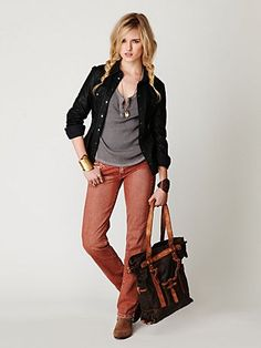 Red Wash Straight Leg jeans...perfect, just too low rise