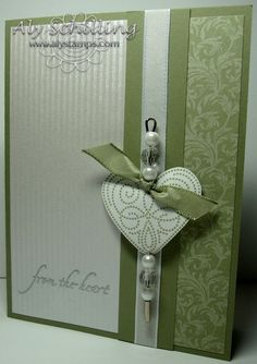 Pretty.....you could also extend the pin into a Book marker Heart- two gift ideas in one!  ;)