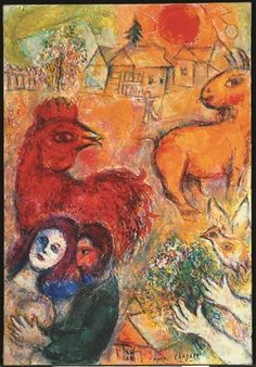 Le Village jaune by Marc Chagall