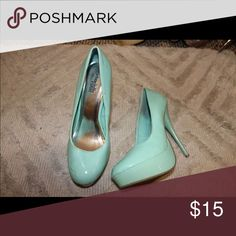 Heels Tourquoise heels, Charlotte Russe, size 8. Charlotte Russe Shoes Heels