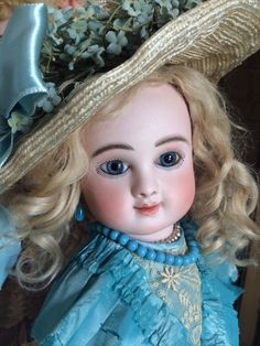 Incredible Rare  Smiling Steiner Figure C Antique FRENCH Bebe Doll Jumeau Dress