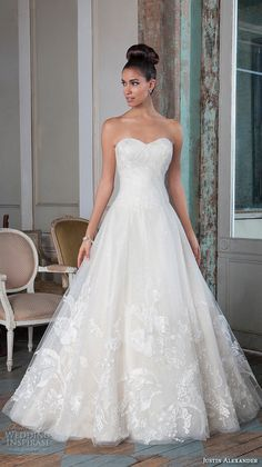 justin alexander signature spring 2016 beautiful a line wedding dress sweetheart neckline tulle gown 9822