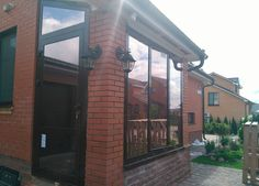 Алюминиевые окно и дверь