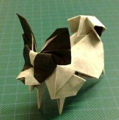 Origami dog.