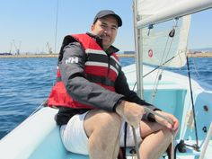Me sailing with my Helly Hansen jacket, my Helly Hansen buoyancy aid and, if you look carefully, my Helly Hansen cap! I only buy Helly Hansen gear!