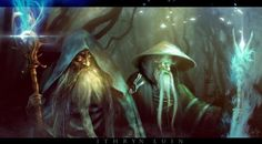 The Blue Wizards. They are believed to have been named Alatar and Pallando. Perhaps also called Morinehtar and Rómestámo
