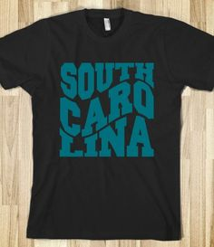 South Carolina - Fun & Funky Dark Tee Shirt - USA State Tees - Cool T ...
