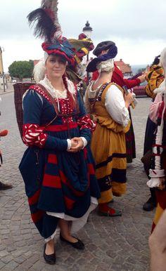 My finished kampfrau ( German dress) at Visby 100 landsknecht march 2014