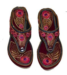 530baad5e93 (eBay link) WOMENS US SIZE 11 EMBROIDERY PARTY WEAR PUNJABI MODERN VELVET  LIGHTHEEL SLEEPER  fashion  clothing  shoes  accessories  womensshoes   sandals