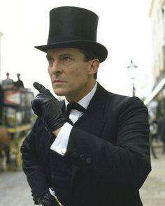 Jeremy Brett as Sherlock. I highly recommend the Granada TV series, starring Jeremy Brett. It's on Netflix.
