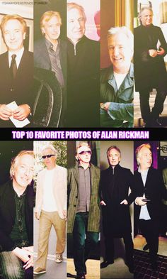 "itsawayofexistence: "" some1 asked. here it is. Favorite photos of Alan Rickman (and SO many other..) """