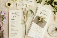 Spring Hill Country Wedding Day-of Paper Goods // by The Nouveau Romantics // Photo by Heather Curiel
