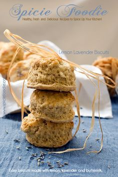 Sweet Lemon, Lavender and Buttermilk Biscuits   Spicie Foodie Healthy Recipes & Food Photography @SpicieFoodie