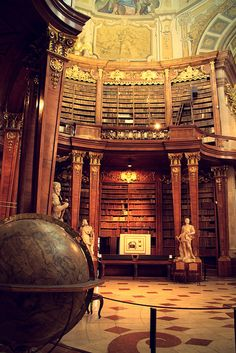 Austrian National Library - Vienna, Austria---I want to live in there.