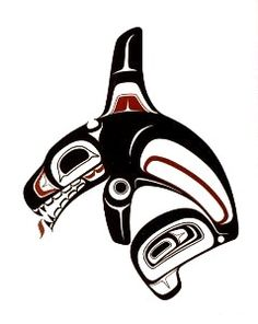 Pacific Northwest Native orca whale Art