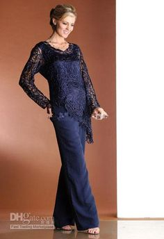 Joan Joan Rivers Elegant Lace And Chiffon With Long Sleeves Ruffles Mother Of The Bride Pant Suits Mother Dress Joan Rivers Rivers From Babibridaldress, $126.71| Dhgate.Com