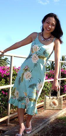 mountain kamali'i floral hawaiian resort dress