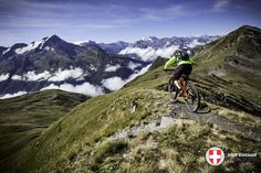 Photo: Trail with a view..!  Mick Kirkman's epic shot from day 2 of the Trans-Savoie big mountain enduro  #mtb  #enduro  #alps  #france