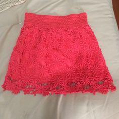 Orange boho chic skirt from Cinnamon Girl Boutique Fully lined, elastic waist, super cute! Skirts