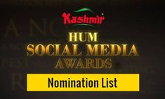 The post HUM Social Media Awards 2020 – Nomination List appeared first on INCPak. HUM Network Ltd. is holding its first ever digitally based award show in Pakistan titled, KASHMIR HUM Social Media Awards 2020 which is all set to be hosted by the talented and controversial Yasir Hussain and Pakistani YouTuber Mooro. HUM Social Media Awards 2020 – Nomination List. The winners of the KASHMIR HUM Social Media … The post HUM Social Media Awards 2020 – Nomination List appeared