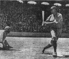 Babe Ruth can't catch up to an Ed Walsh fastball, striking out at Comiskey Park.